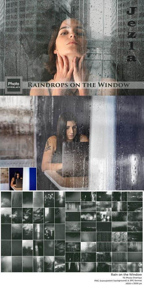 Raindrops on the Window Overlays - 6521973