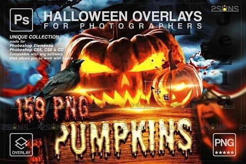 Pumpkins MEGA PACK 159 Halloween overlay V30 - 1612742