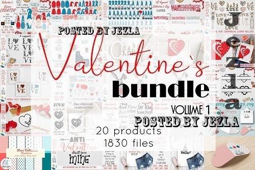Valentines Bundle. Valentines Day SVG Bundle - 1500018