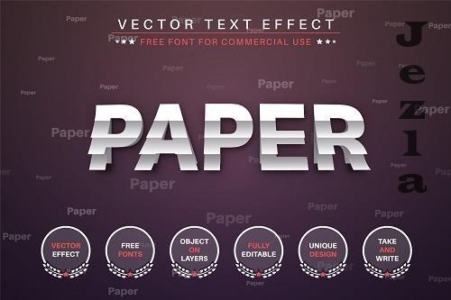 Paper Sticker - Editable Text Effect - 6577962