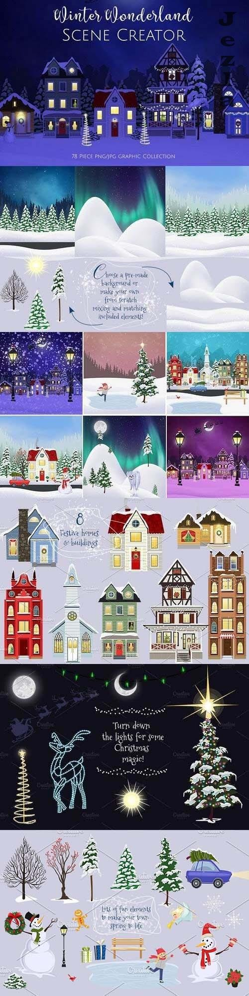 Winter Wonderland Scene Creator - 1982768