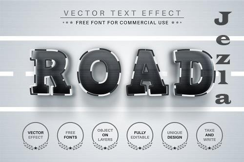 Road - Editable Text Effect - 6583749