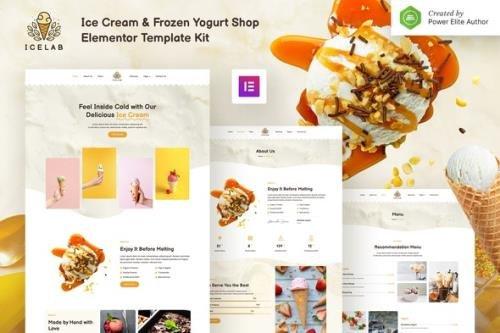 ThemeForest - Icelab v1.0.0 - Ice Cream & Frozen Yogurt Shop Elementor Template Kit - 34265488