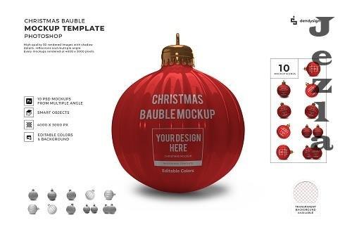 Christmas Bauble Ball 3D Mockup Template Bundle Vol 3 - 1635921