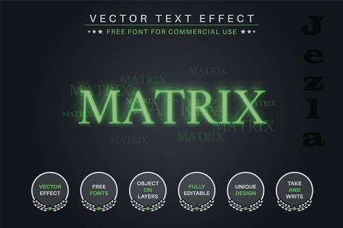 Matrix - Editable Text Effect - 6584032