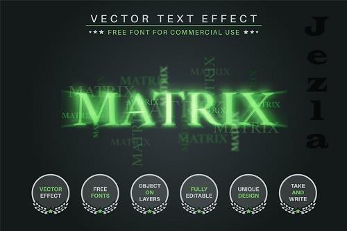 Cyber Matrix - Editable Text Effect - 6584216