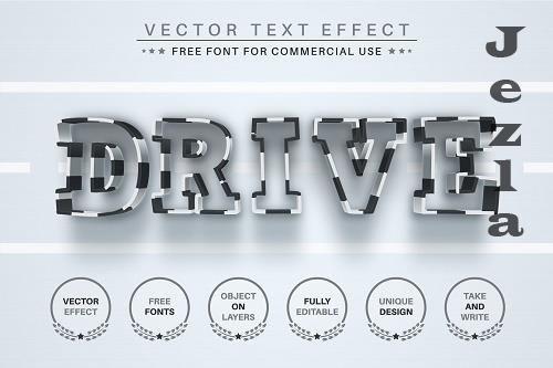 Drive - Editable Text Effect - 6583876