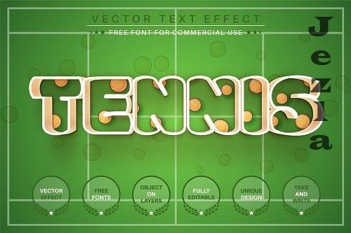 Tennis - Editable Text Effect - 6585052