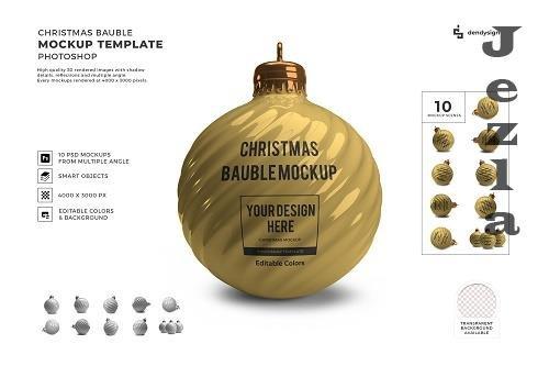 Christmas Bauble Ball 3D Mockup Template Bundle Vol 4 - 1636539