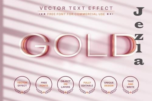 Gold - Editable Text Effect - 6586368