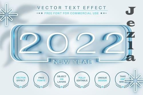 2022 Years - Editable Text Effect - 6586886