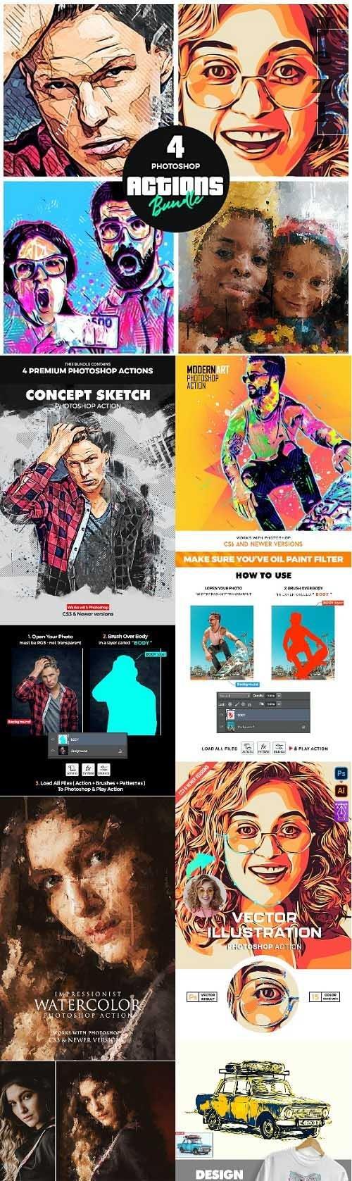 Artist Bundle 3 - Four PHSP Actions - 34278722