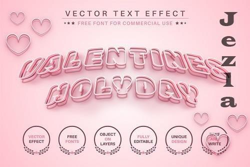 Valentine's Day - Editable Text - 6588232