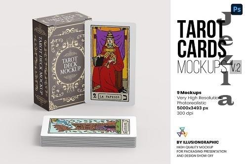 Tarot Cards Mockups v.2 - 9 views - 6367436