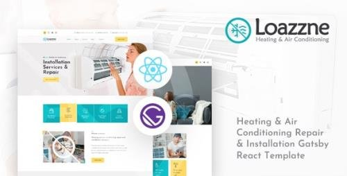 ThemeForest - Loazzne v1.0 - Gatsby React Heating & Air Conditioning Services Template - 34080900